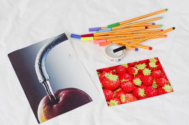 pocztówki, postcrossing, Ukraina, Holandia,jabłko, truskawki