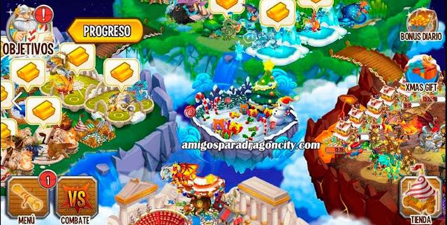 imagen de la isla de navidad de dragon city ios