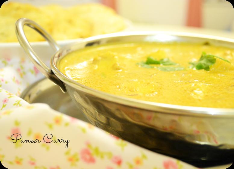 Paneer Curry {coconut milk}