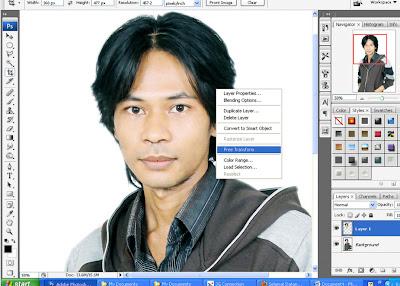 ... crop tool jadi sebaiknya sebelum klik kanan klik dulu gambar crop tool