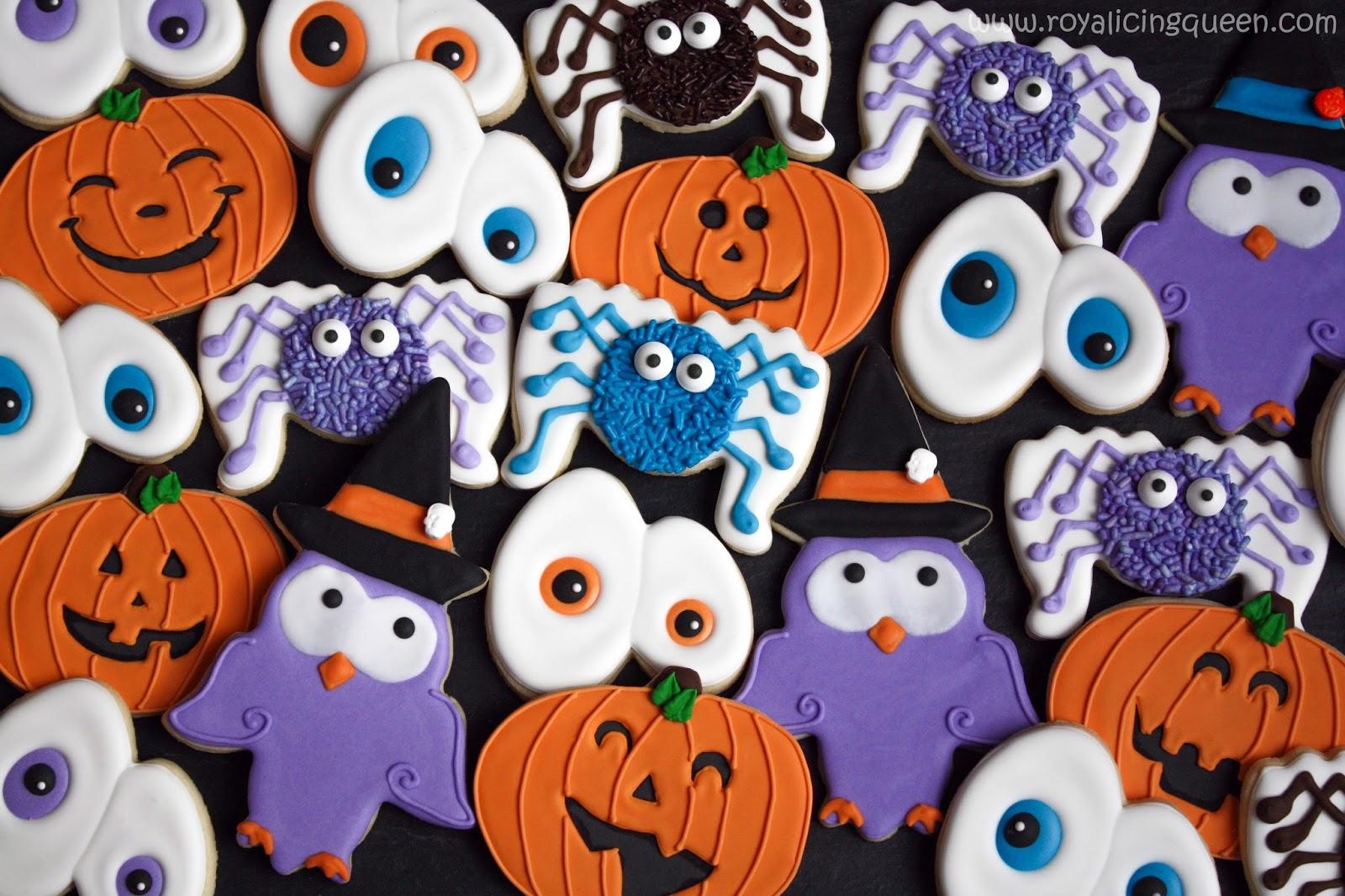 The Royal Icing Queen: Halloween Cookies - Spiders, Creepy Eyes ...