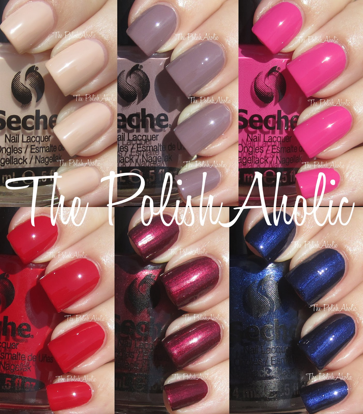 The PolishAholic: Seche Nail Lacquer Swatches & Review