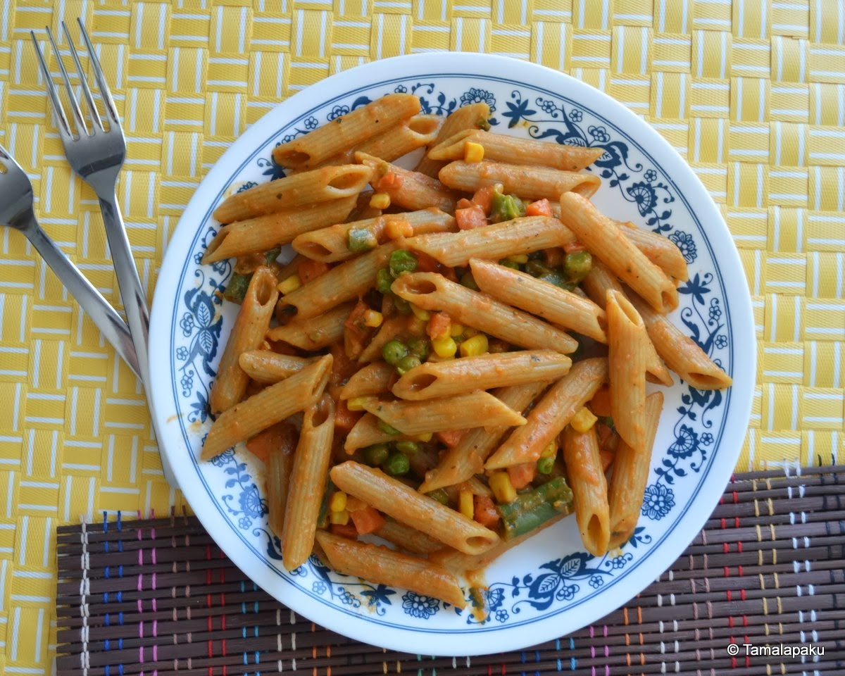 Pasta With Maggi Masala