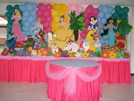Fiestas infantiles decoraci n princesas for Decoracion de princesas