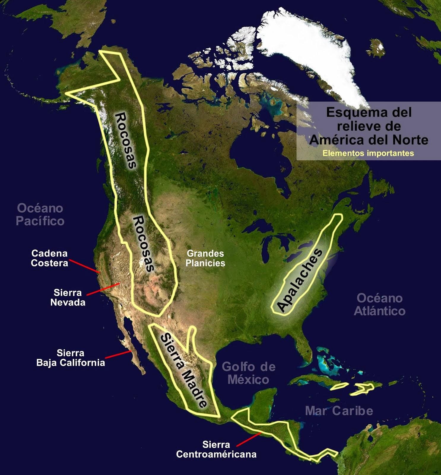 Mapa Politico America Del Norte