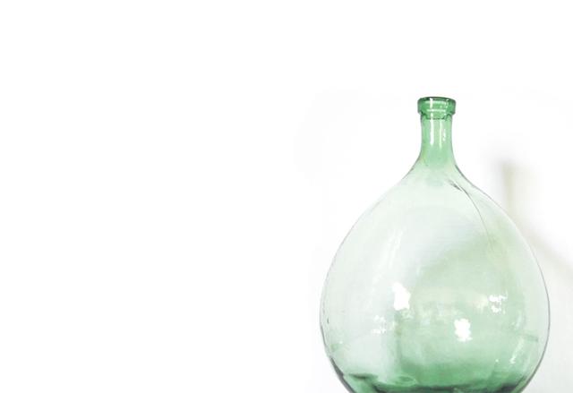 Bonbonne vintage verre souffle