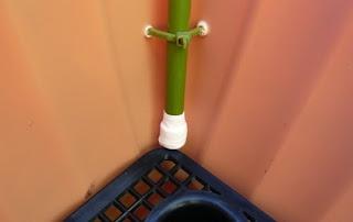 プランター 防虫ネット 張り方 支柱 結束バンド