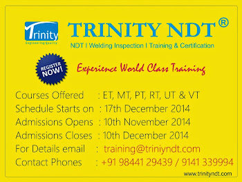 NDT Level II Training from 17 Dec 2014 at Bangalore, India - world class training click below Image