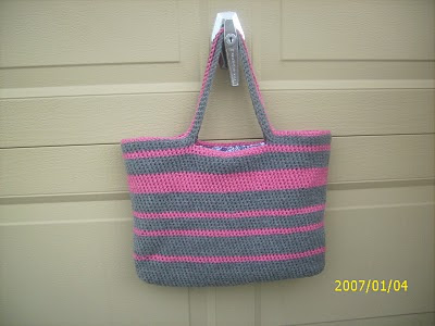 Easy Crochet Tote Bag Pattern : CreativeMe: My Crochet Tote *pattern*
