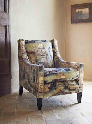 The Gondolier - velvet upholstered chair