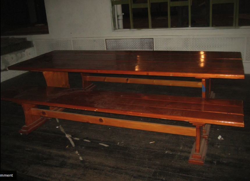 The Shop Must Go Beautiful Solid Wood Vintage Picnic Table 300