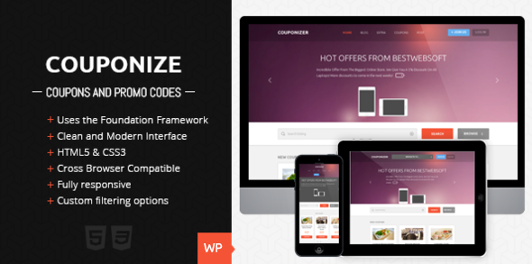 Couponize v1.2 - Responsive Coupons and Promo Theme