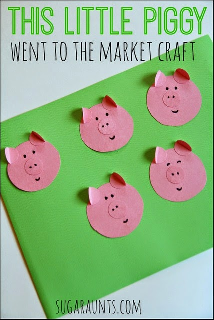 """This Little Piggy Went to the Market"" craft for kids"