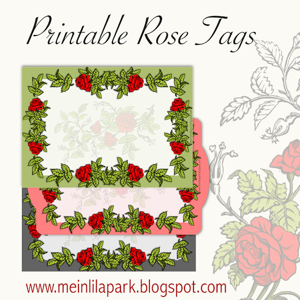 Free printable rose tags and labels ausdruckbare etiketten free printable rose tags and labels ausdruckbare etiketten freebie negle Gallery