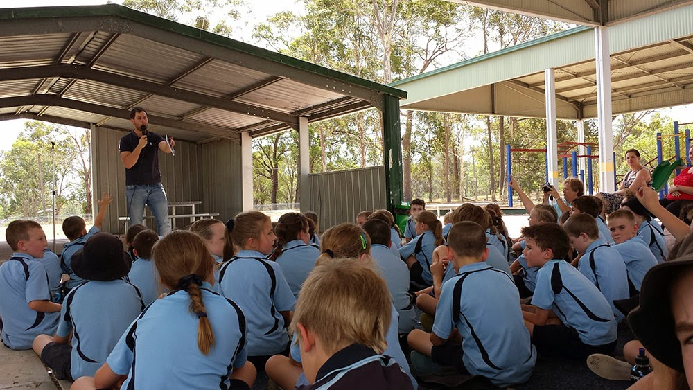 talking to school kids about reading and writing