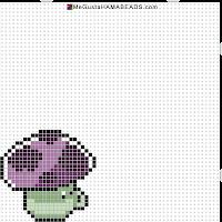 hama beads mini puff-shroom