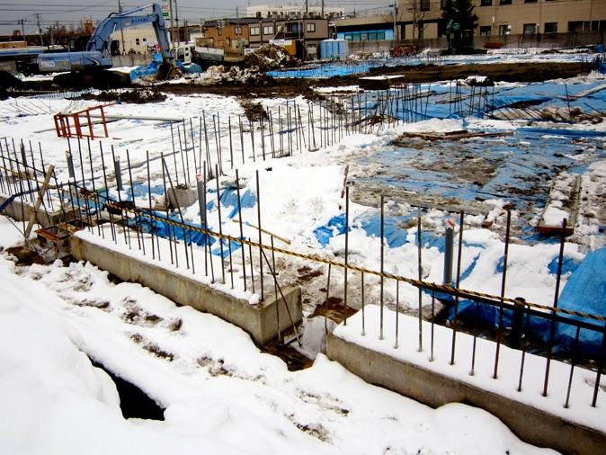 冬の工事現場