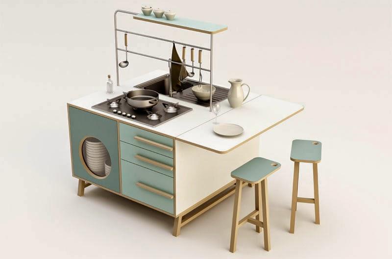 Maria victrix: Dos cocinas de diseño independientes
