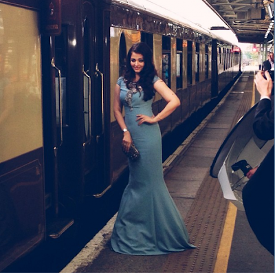 Aishwarya at Longines Dinner on the Orient Express