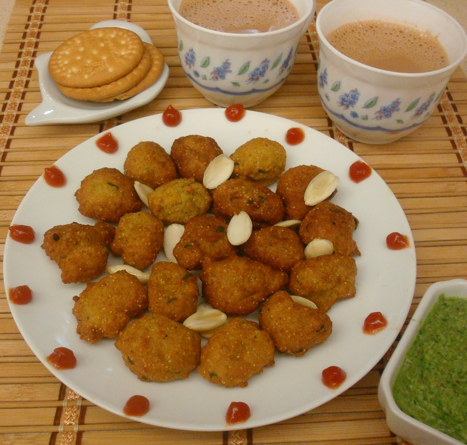 Almond Fritters / Badam Pakora