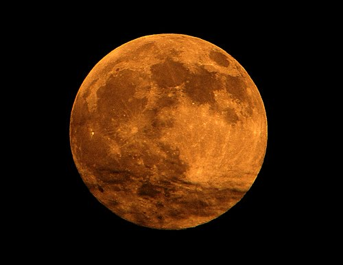 Lunar Perigee Or Supermoon. (called lunar perigee) in