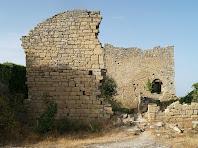 Les runes del castell de la Popa des de la capella de Sant Martí