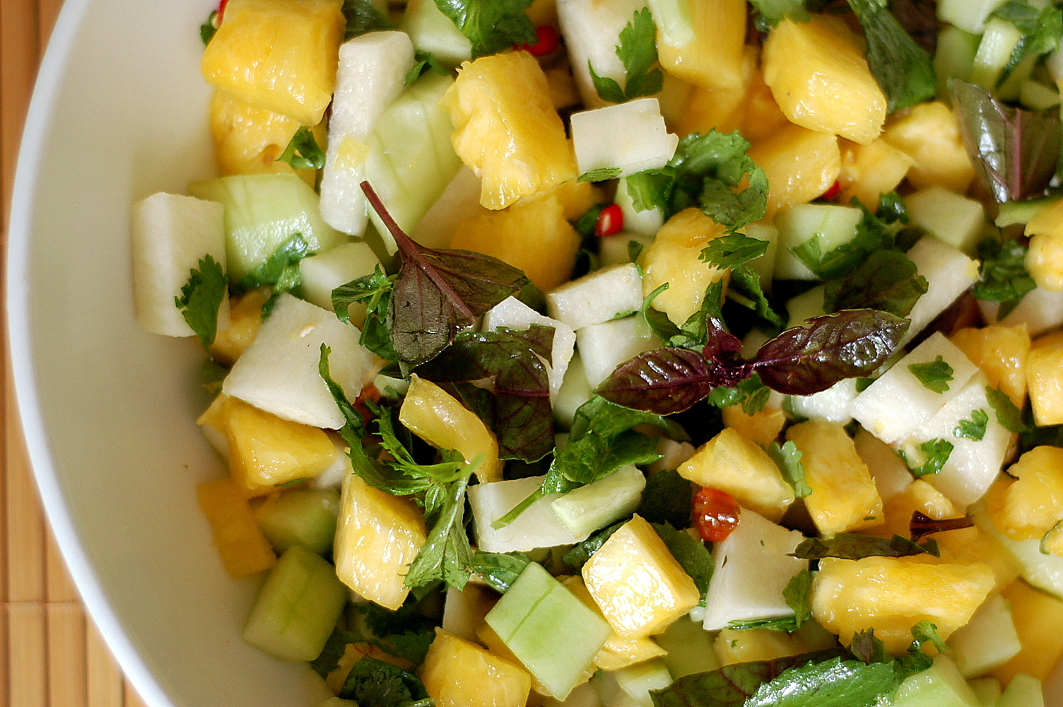 The Grains of Paradise: Jicama, Pineapple, and Cucumber Salad