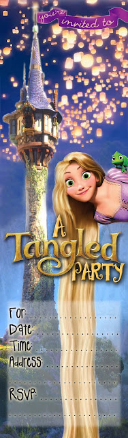 Tangled Party Free Printable Invitation