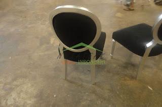 Brahma Silver Leaf Dining Chair 2