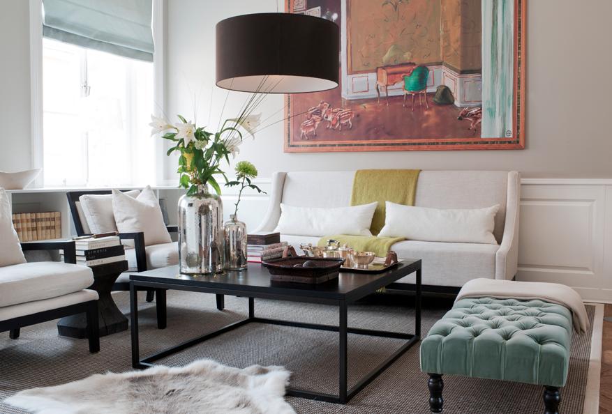 Studio Karin Elegant Modernt Klassiskt Och LampaÖver Soffbord