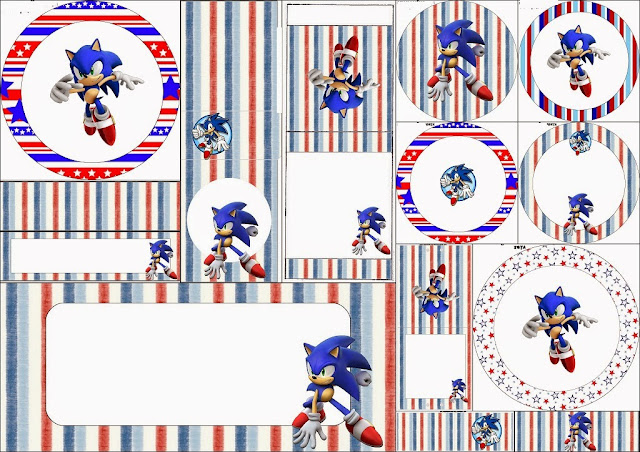 Sonic: Free Printable Candy Bar Labels.