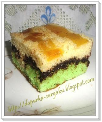 Olahan Nangka, Cake Panggang, Cake Nangka Lapis Coklat, Cake Tanpa Pengembang Tambahan, Cake Tanpa Margarin Dan Mentega,