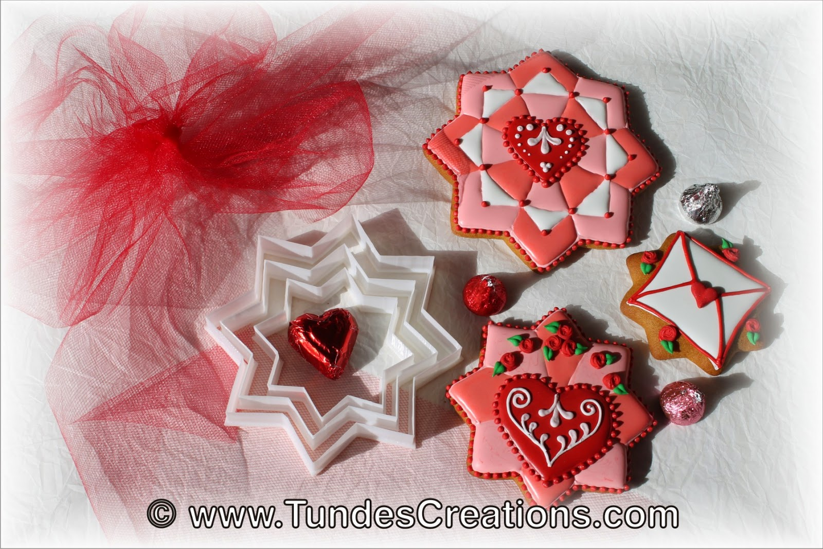 Valentine's gingerbread cookies