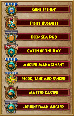 Wizard101 Fishing, Fish School, Location, and Tank Size Guide Badges