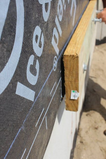 Deck ledger board and spacing
