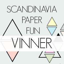Jeg vant og ble favoritt hos Scandinavia Paper Fun !