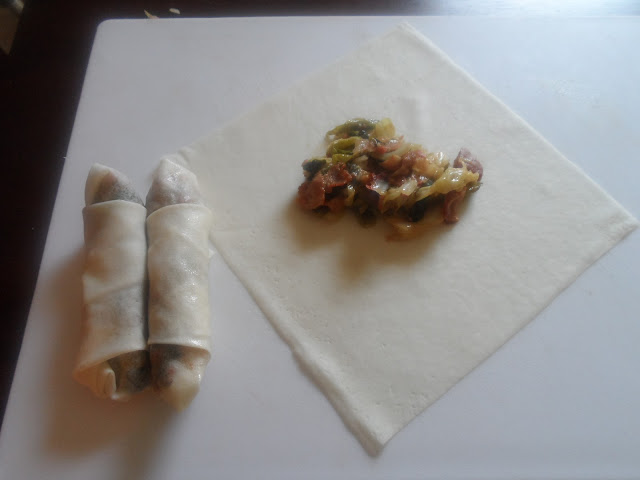 how much filling to put in spring roll