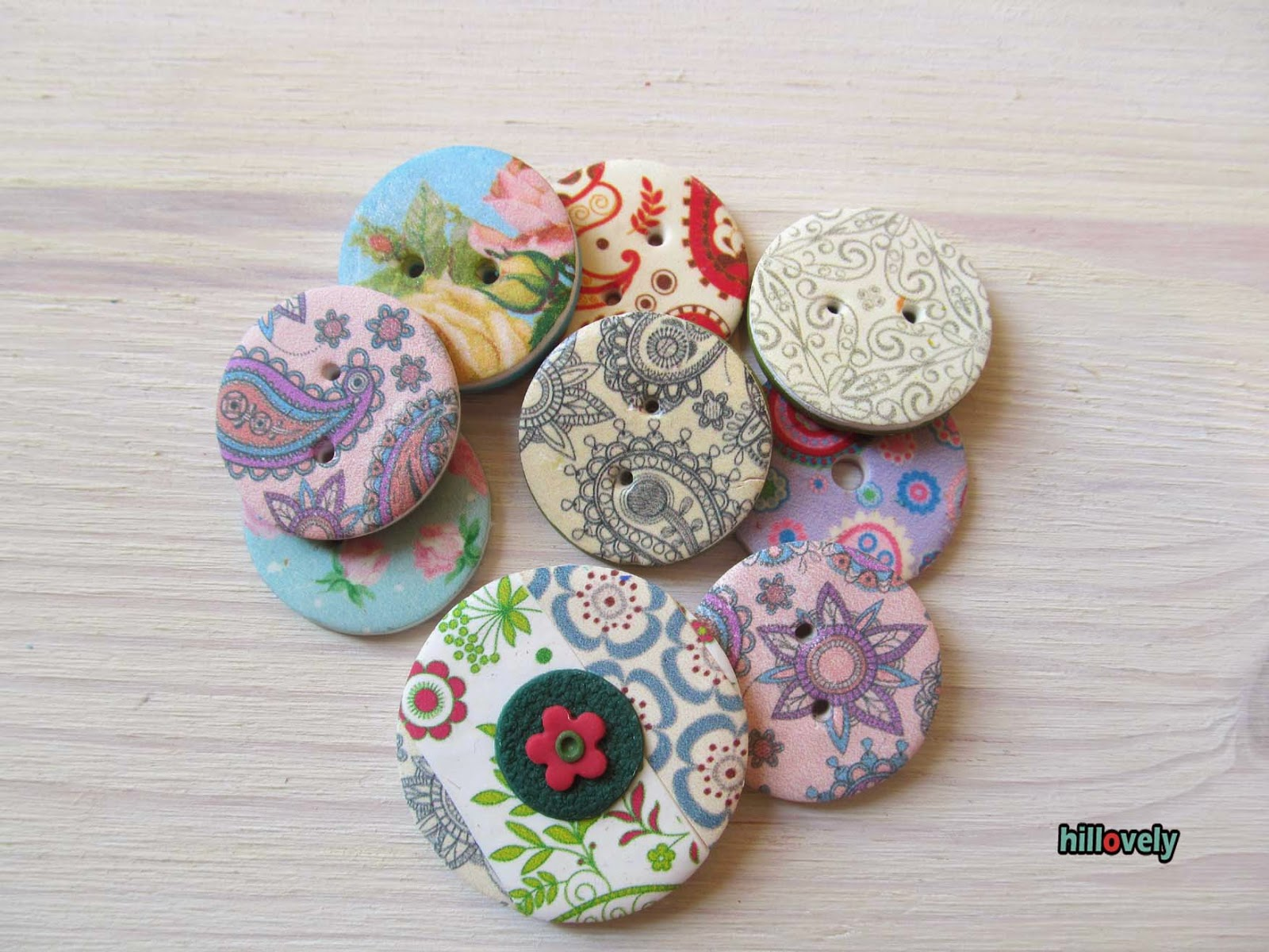 fimo,polymer clay,buttons,transfer polymer clay