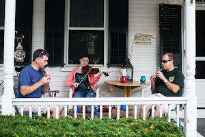 A Sunday afternoon porch session.
