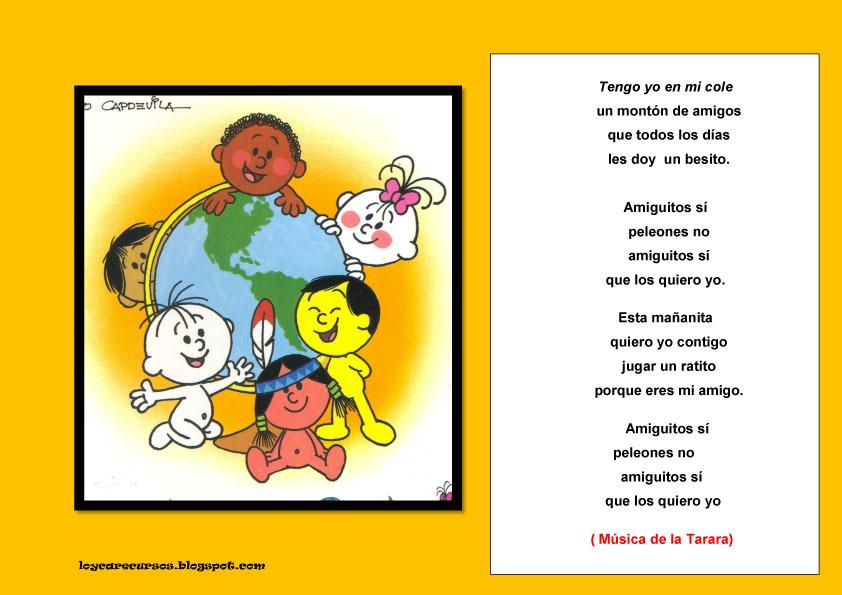 Recursos de educaci n infantil canciones para el d a de for Cancion infantil hola jardin