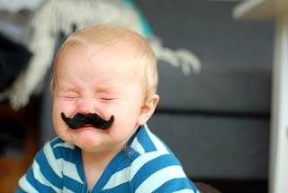 Gambar bayi lucu pakai kumis 37