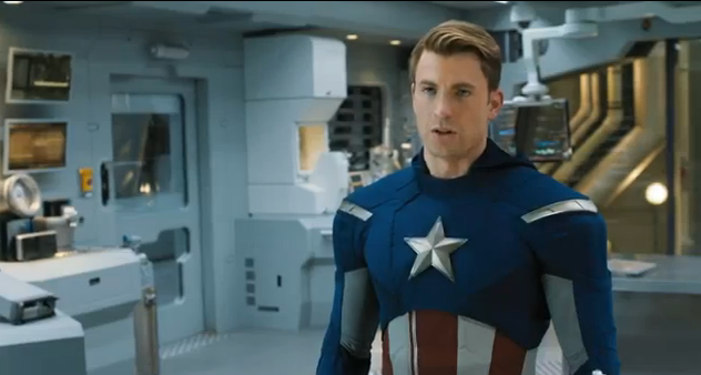 The Avengers 2012 Super Bowl Spot Extended Movie Trailer Captain America Costume