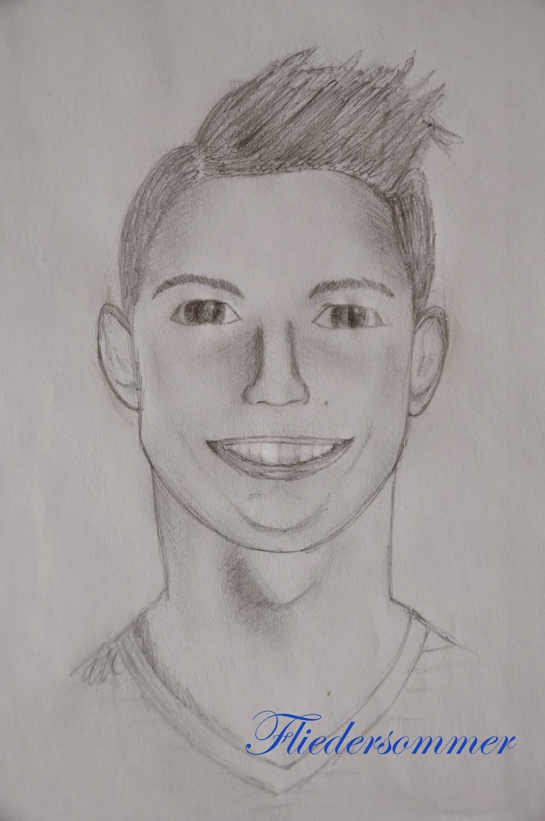 Fliedersommer Zeichnung Cristiano Ronaldo