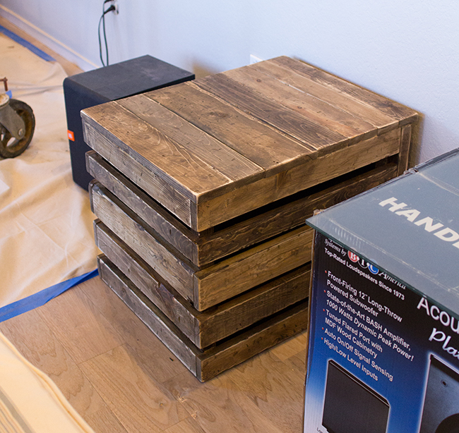 Diy Wood Side Table Subwoofer Enclosure Amazing