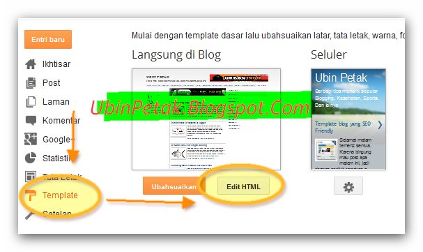 how to edit Html code blogger