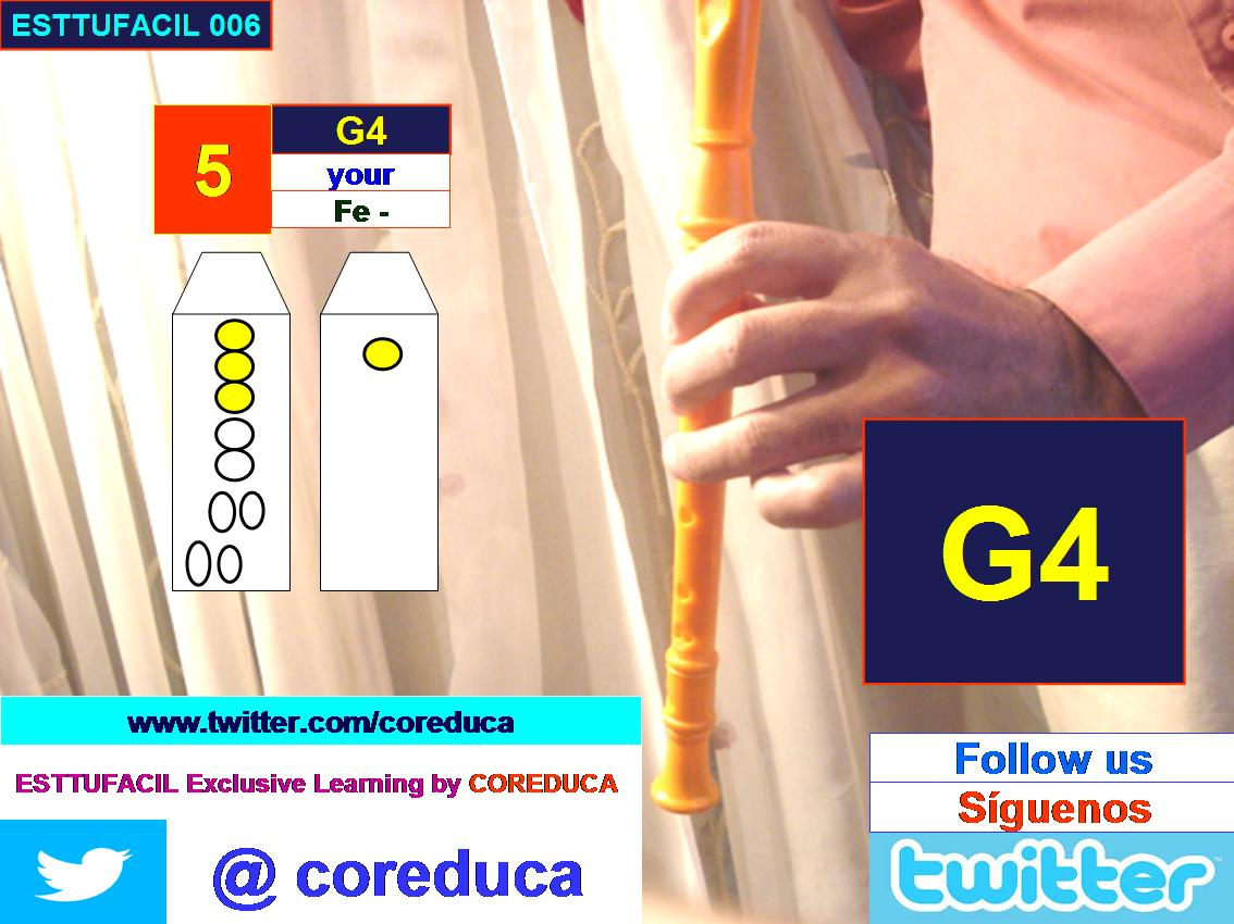Flute position G4 Special Invitation to follow us in twitter, Enjoy exclusives Guides Support