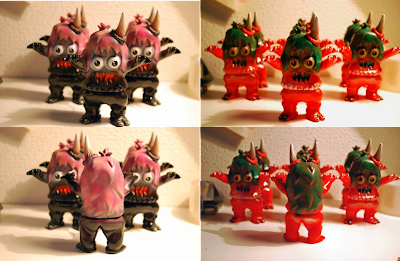 "Superfestival Exclusive Painted Ugly Unicorn Vinyl Figures by Rampage Toys – ""Allsorts Liquorice Ugly"" & ""Poppy Goji Ugly"""