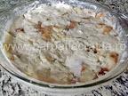Budinca de paine preparare reteta - inainte de a fi introdusa in cuptor