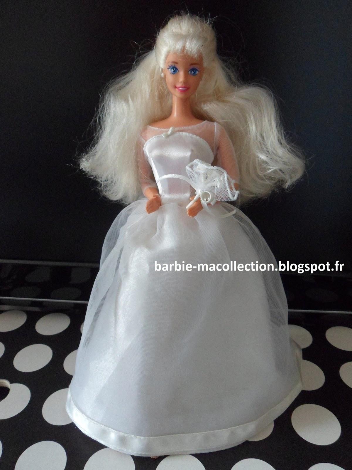 Ma collection de barbie v tements barbie robe de mari e - Barbie mariee ...