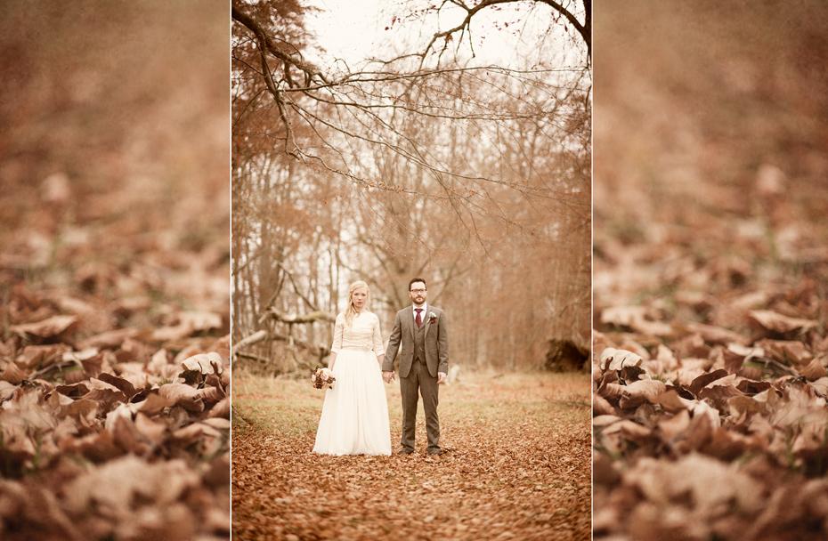 Bryllupsbilder fra høstbryllup, fotograf Trine Bjervig